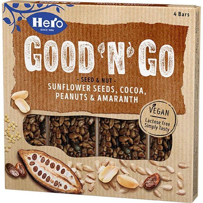 Hero Good'n'go sunfl cocoa peanuts amaranth (4 × 100g)