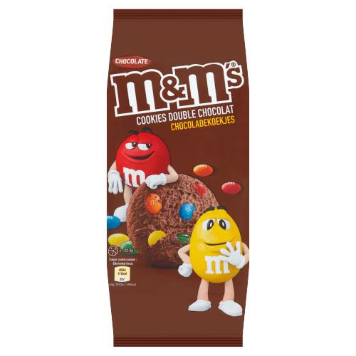 M&M's double chocolate koekjes 180 GRM Bakje (180g)