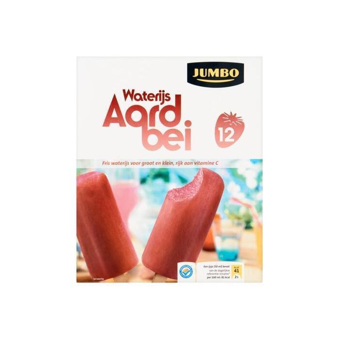 Jumbo Aardbei Waterijsjes met Echt Fruit 12 x 50 g (12 × 50g)