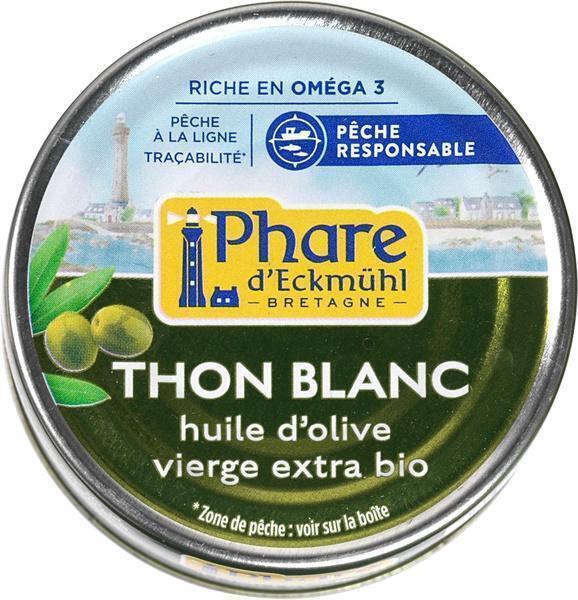 Witte tonijn in olie (blik, 80g)