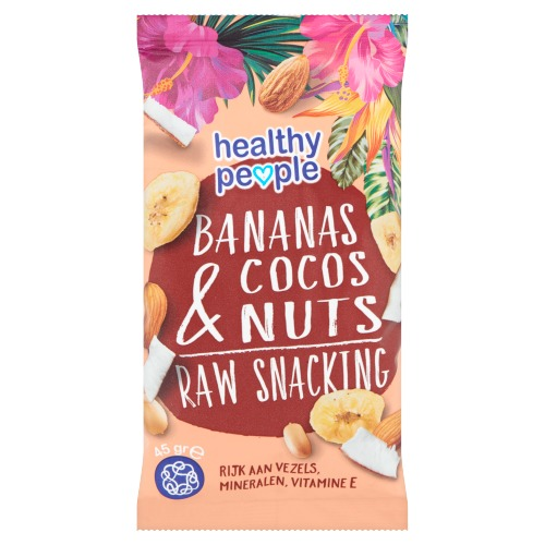 Healthy People Bananas Cocos & Nuts Raw Snacking 3 x 45 g (3 × 45g)