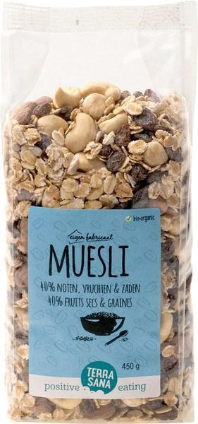 Muesli - 40% noten, vruchten & zaden TerraSana 750g (750g)