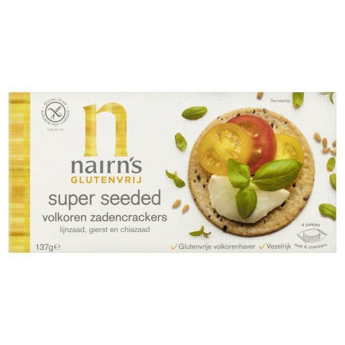 Nairn's Super seeded wholegrain cracker glutenvr (24 × 137g)