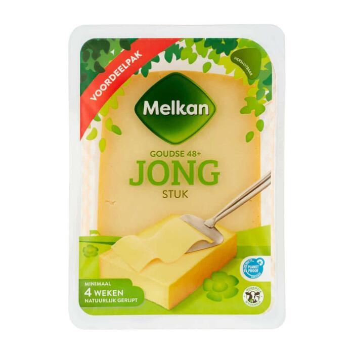 Melkan Jonge kaas 48+ stuk (960g)