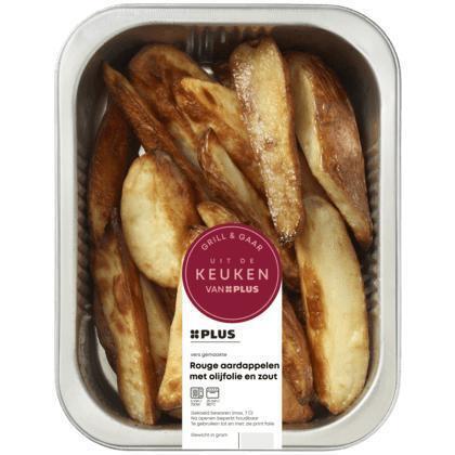 Rouge aardappelen met olijfolie, zout (300g)