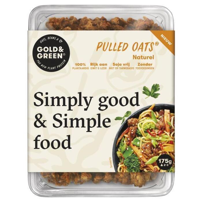 Gold & Green Pulled oats naturel (175g)