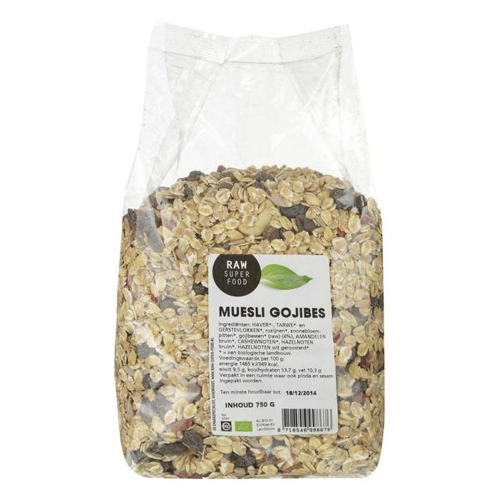 Muesli gojibessen- bio (750g)