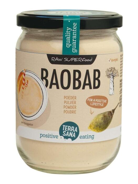 Raw baobab poeder (pot, 190g)
