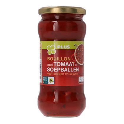 Bouillon met tomaat en soepballen (34cl)