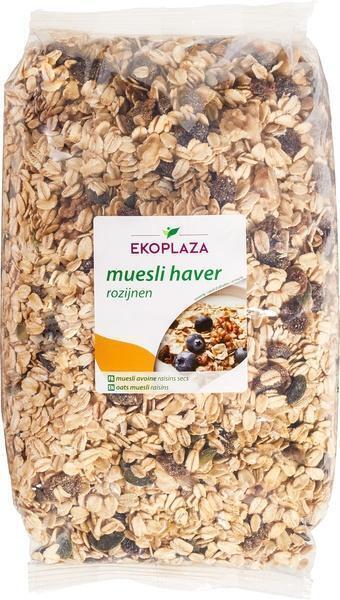 Muesli haver-rozijnen (zak, 750g)