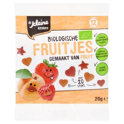 De Kleine Keuken Biologische Fruitjes gemaakt van fruit 20g (20 × 20g)
