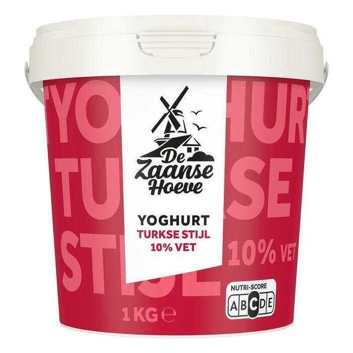 De Zaanse Hoeve Yoghurt Turkse stijl 10% vet (1kg)