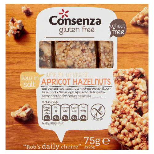Notenreep abrikozen-hazelnoot (75g)