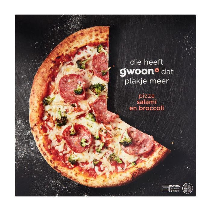 g'woon Premium pizza salame (431g)
