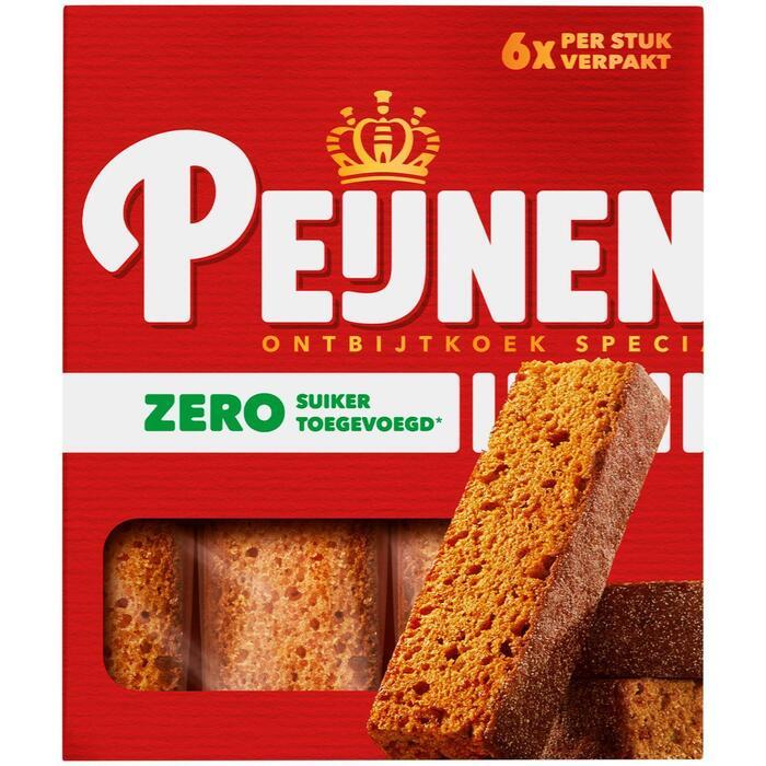 Peijnenburg Zero Ontbijtkoek 6 stuks (Stuk, 216g)