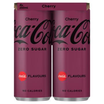 Coca-Cola zero sugar Cherry (4 × 250ml)