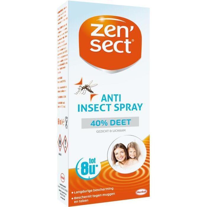 Zen'sect Anti Insecten Spray 40% Deet (stuk, 60ml)