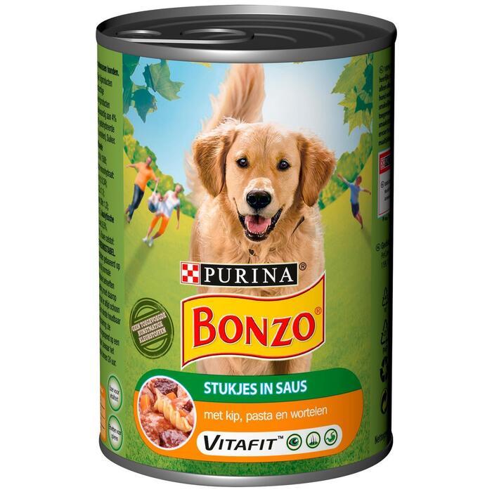 Bonzo met Kip, Pasta en Wortelen in Saus 400 g (Stuk, 400g)