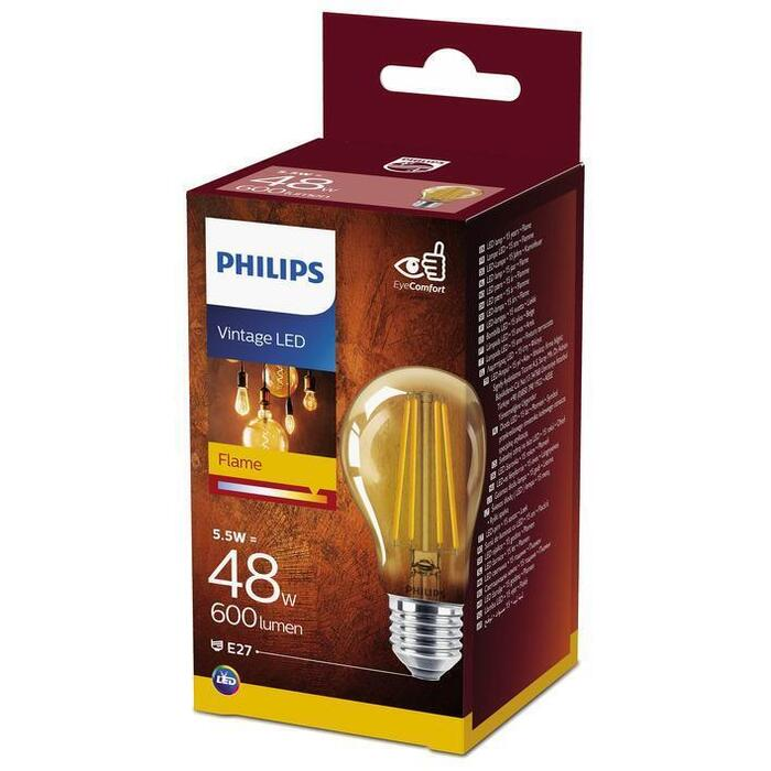 Philips Fil std E27 48W goud