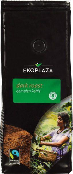 Dark roast gemalen koffie (zak, 500g)