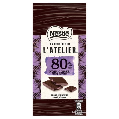 Nestlé l'Atelier Puur Crosé Chocolade 80% 100 g (100g)