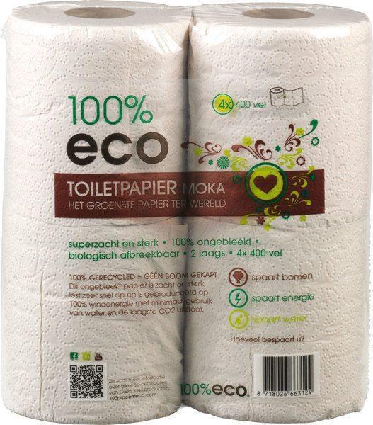 100% ECo toiletpapier (rollen)