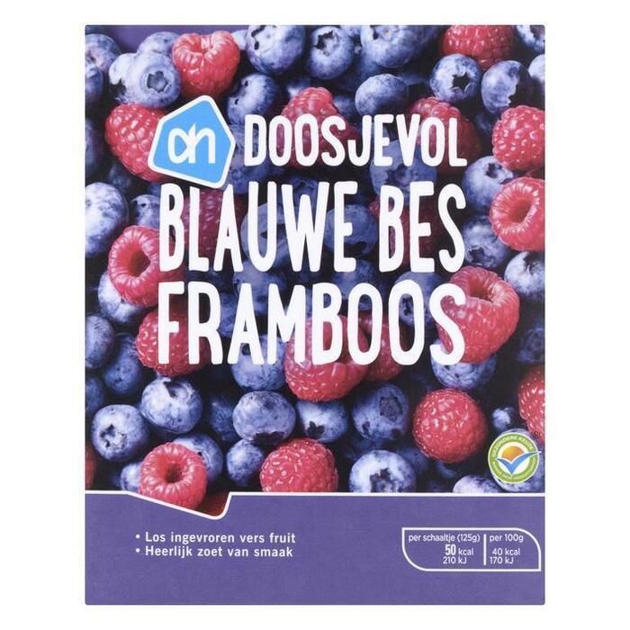 Doosjevol Blauwe bessen en Frambozen (doos, 250g)