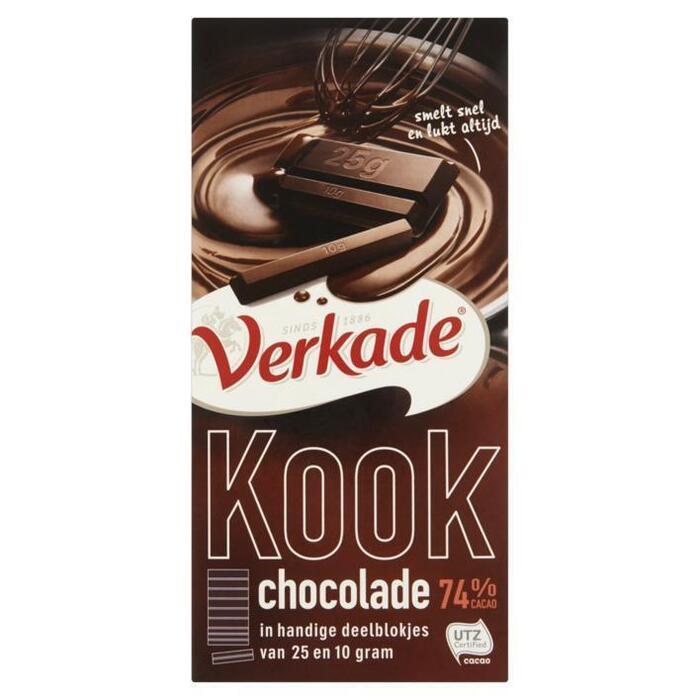 Kook chocolade 74% (Stuk, 200g)