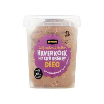 Jumbo Haverkoek met Cranberry Deeg 500 g (500g)