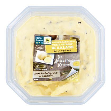 Aardappel vrije uitloop ei salade (450g)