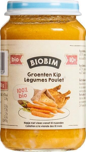 Groenten kip 10+ maanden (200g)