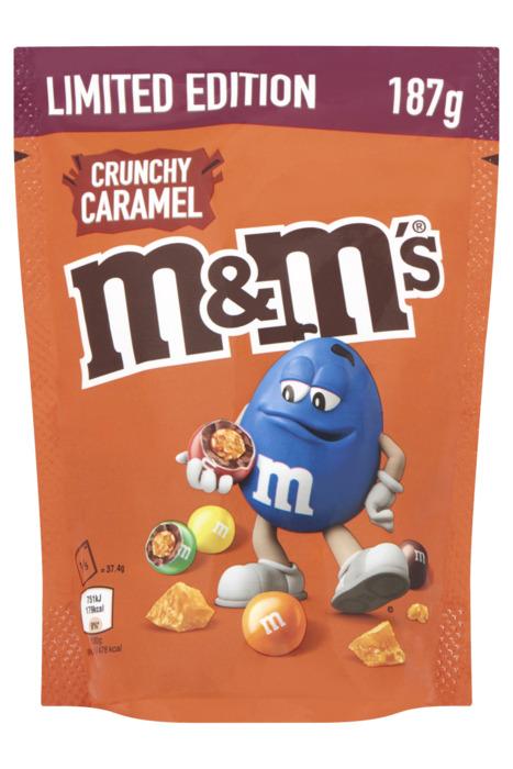 M&M's Chocoladedragees crunchy caramel 187g stazak (187g)