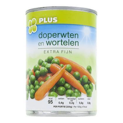Doperwten en wortelen extra fijn (400g)