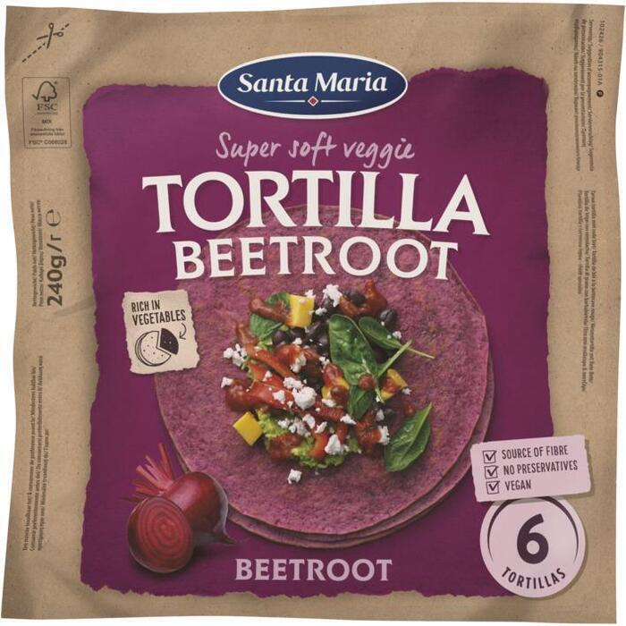 Santa Maria Tortilla Wrap Bieten Medium (6-pack) 240 g (240g)
