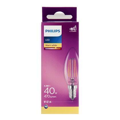 Philips Fil kaars E14 40W
