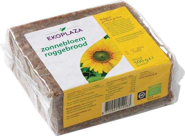 Zonnebloem roggebrood (plastic, 500g)