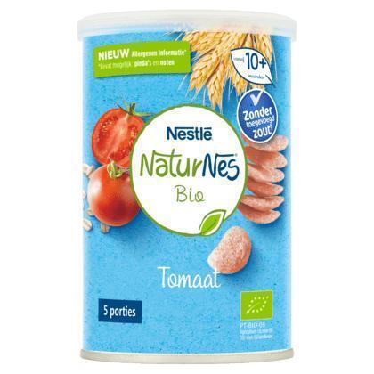 NaturNes® Bio Nutripops Tomaat 10+ mnd baby tussendoortje biologisch (35g)