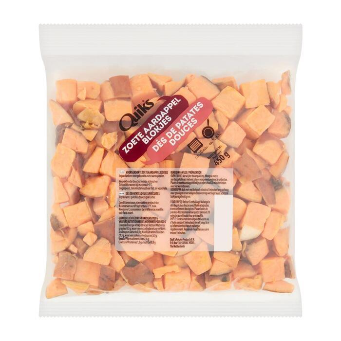 Aardappelblokjes zoet (450g)