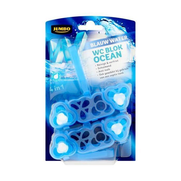 Jumbo 4 in 1 Blauw Water WC Blok Ocean 48 g (2 × 48g)