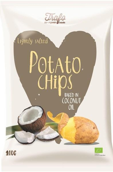 Aardappelchips (gebak. in kokosolie) (100g)