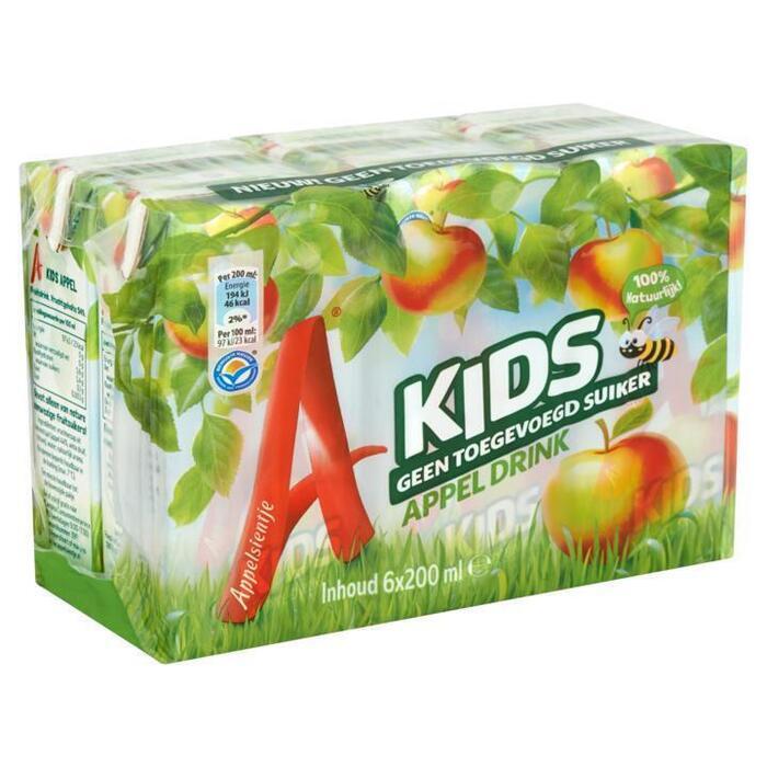 Kids Appel Drink (pak, 6 × 200ml)