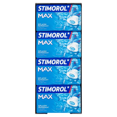 Stimorol Max Splash Peppermint Flavour Sugar Free 16 x 22 g (22g)