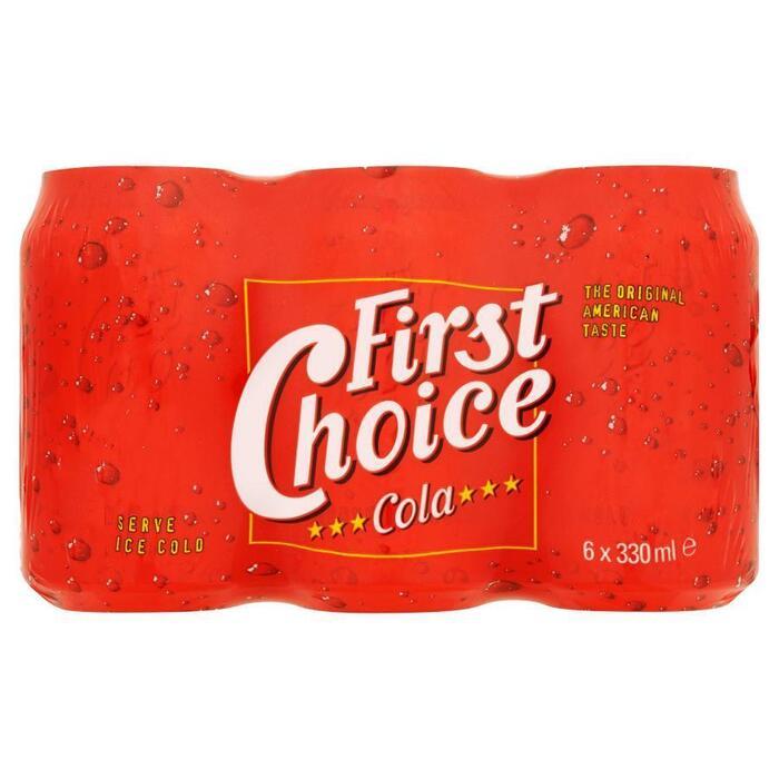 First Choice Cola (blik, 6 × 1.98L)