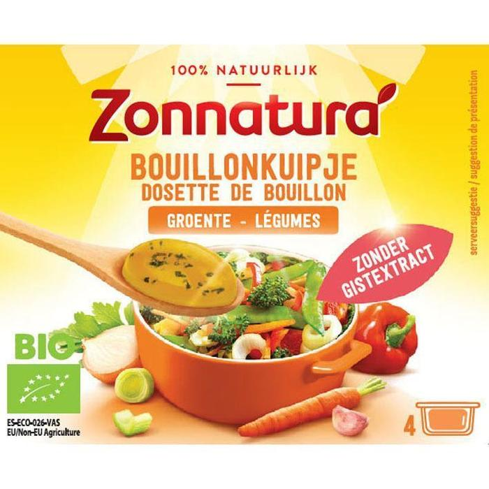 Zonnatura Bouillon kuipje groenten (4 × 96g)