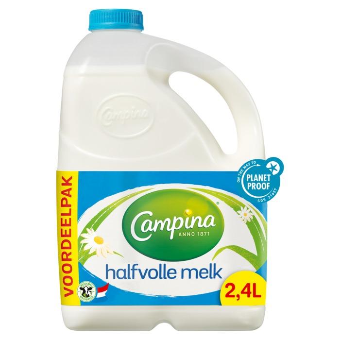 Halfvolle melk (can, 2.4L)