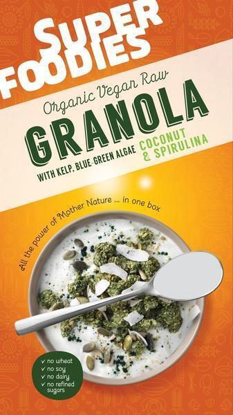 Granola coconut & spirulina (200g)