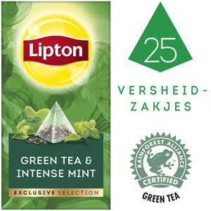 Lipton Excl Select Groene Munt 25S 6x (50g)