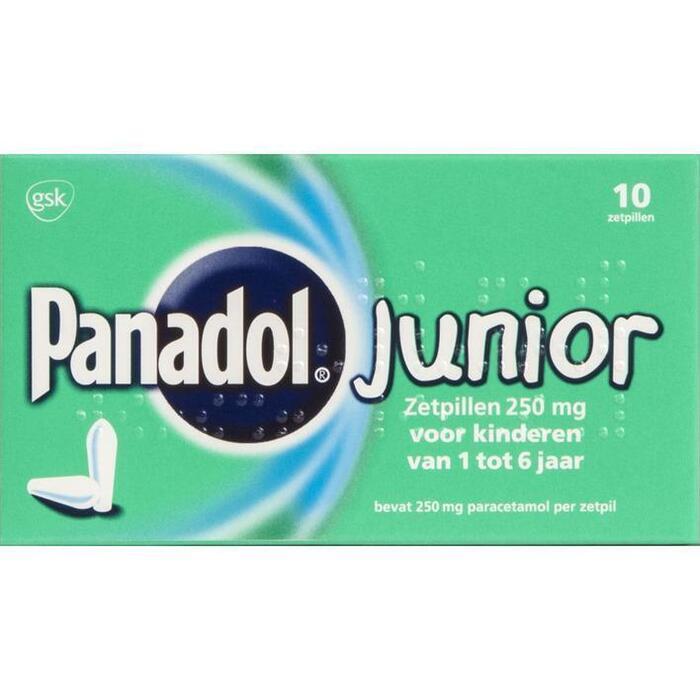 Panadol Junior zetpillen 250 mg