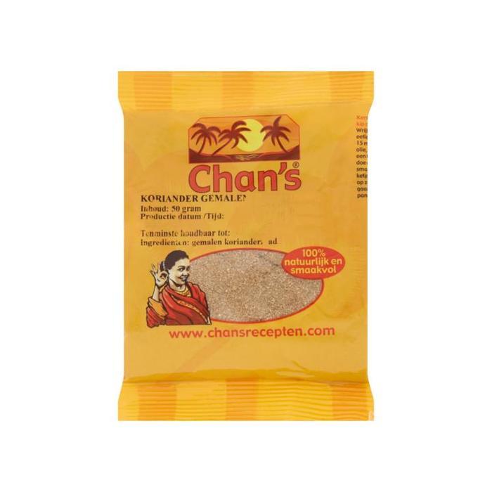 Chan's Koriander Gemalen 50g (50g)