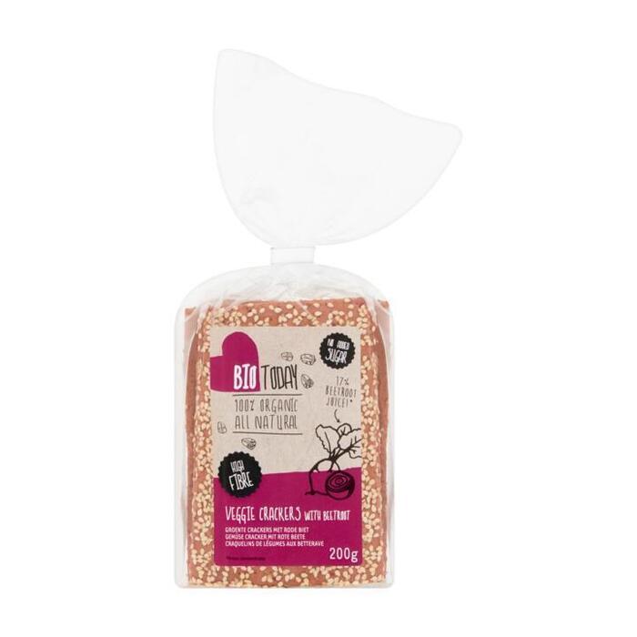 Bio Today Groente Crackers met Rode Biet 200 g (200g)